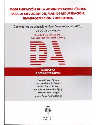 Modernización de la Administración Pública para la ejecución del plan de recuperación,transformación y resilencia